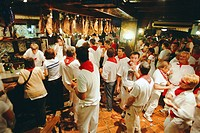 Bar scene during San Fermin Festival. Pamplona. Navarre, Spain