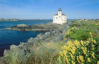 Coquille River Lighthouse. Bandon. Oregon, USA