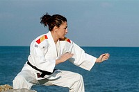 Almudena L&#243;pez, judo Spain champion