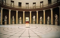 Greek classical sculptures in the Altes (old) Museum. Berlin, Germany