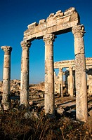 Ruins of Apamea (founded 2nd century B.C., rebuilt after earthquake 115 B.C.). Syria