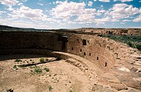 Kiva, Casa Rinconada. Chaco Culture NHP. Centre of the Anasazi culture. Nex Mexico. USA