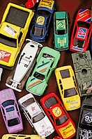 Toy cars at swap meeting