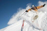 action, extreme, extreme sport, Free riding, man, , mountains, steep slope, ski, skiing, snow, sports,