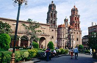Cathedral and Palacio Municipal. San Luis Potosí, Mexico