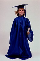 Portrait of a girl wearing a graduation outfit