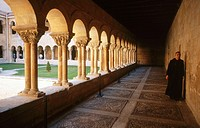 Romanesque cloister of Santo Domingo de Silos Benedictine monastery (11-12th centuries). Burgos province, Spain