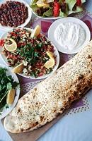 Meze Turkish cuisine. Antalya. Mediterranean coast. Turke