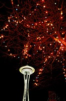 Space Needle in Seattle Center. Washington, USA