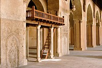 Mosque of Ibn Tulun. Archways and staircase. Cairo, Egypt