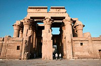 Entrance to temple. Kom Ombo, Egypt