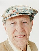 Portrait of a Senior Man Wearing a Flat Cap