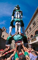 Castellers del Riberal, Catalan human tower builders. France