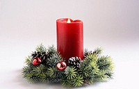 Candle. Holiday decor