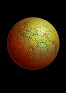 North Africa and the Middle East on Globe (thumbnail)