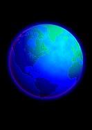 Atlantic Ocean on Globe