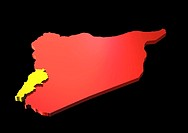 Map of Lebanon and Syria (thumbnail)