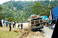 The road to Chichicastenango. Guatemala