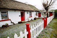 Traditional Irish home, County Clare. Republic of Ireland