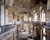 Würzburg, Residenz/ Hofkirche, Blick von der Empore nach Osten