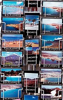 Postcards for sale in Lanzarote. Canary Islands. Spain
