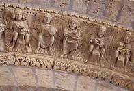 Carrion de los Condes, Torre de Caracol, / Portalarchivolte, Handwerksdarstellungen