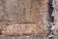 Llanes, Idolo de Pena Tu/ Prähistorische Kultstätte, Detail der Inschriften