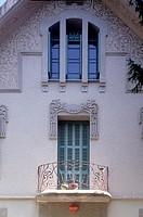 Barcelona, Villa Helius/ Fassadendetail, Arch. Manuel-Joaquim Raspall Mayol, 1906-1909