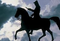 equestrian monument, stockholm, sweden