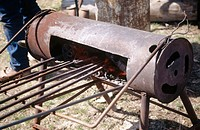 Branding iron oven. GI Ranch, central Oregon, USA
