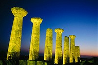 Ruins of Hercules Temple, built 6th century AD. Agrigente. Sicily. Italy.