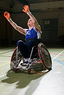 Basketball player in a wheelchair