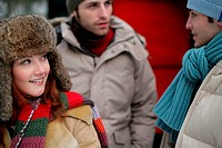 Friends in winter clothes (thumbnail)