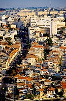 Aerial photography of Jerusalem with the Turkish ramparts in background. Jerusalem, Israel