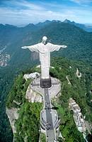 Christ The Redeemer statue on Corcovado mountain. Rio de Janeiro, Brazil