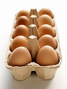 A Carton of Brown Eggs