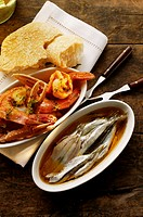 Pickled sardines and fried scampi (thumbnail)