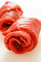 Fresh beef roulades