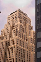 Art Deco architecture of the New Yorker Hotel. New York City. New York. United States