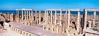 Theatre, ruins of Roman major city. Leptis Magna. Libya