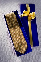 Close-up of a tie in a box