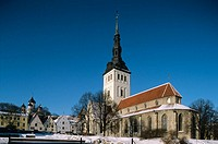 Niguliste church, 13th-century church that houses a concert hall as well as museum, old town. Tallinn, Estonia