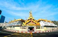 Facade of a pagoda, Sule Pagoda, Yangon, Myanmar