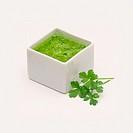 Green sauce.