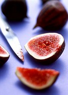 Fresh figs, one cut open