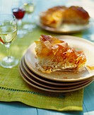 Goat´s cheese in puff pastry