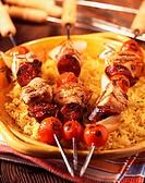 Spanish-style pork kebabs