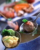 Fish and meat fondue