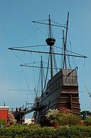 Replica of an ancient Portuguese ship, Melaka, Malaysia
