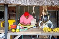Traditional zulu craft center near Saint Lucia Park. Kwazulu-Natal province. South Africa